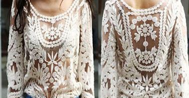 trend alert - lace shirt