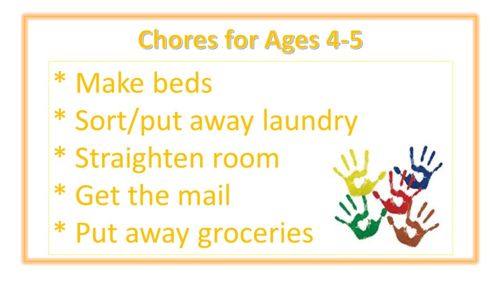 Age Appropriate Chore Ideas for Kids